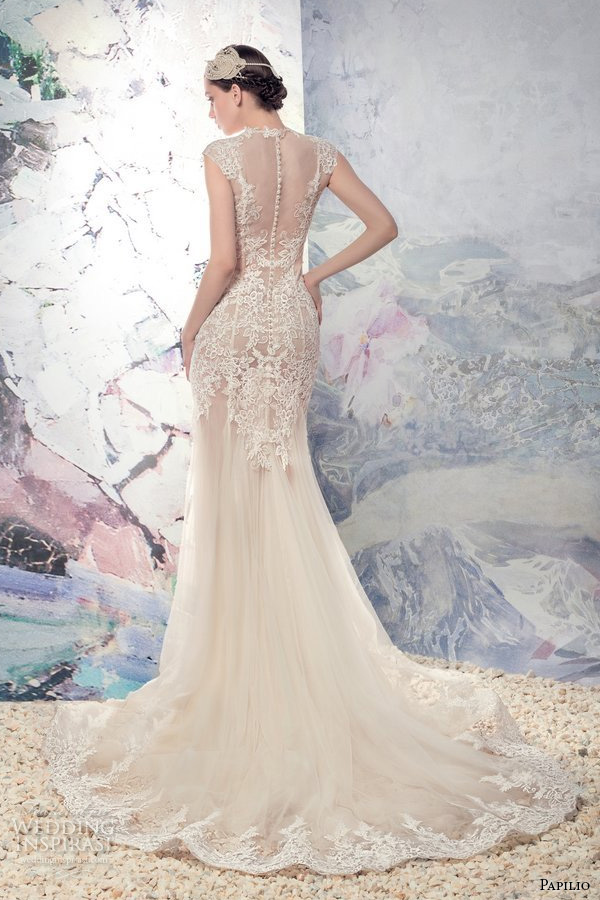 Wedding Dresses Nude 31 Nice papilio bridal cap sleeves