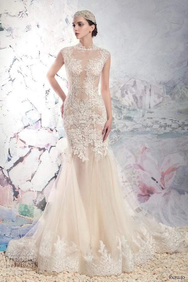 Wedding Dresses Nude 89 Epic papilio bridal cap sleeves