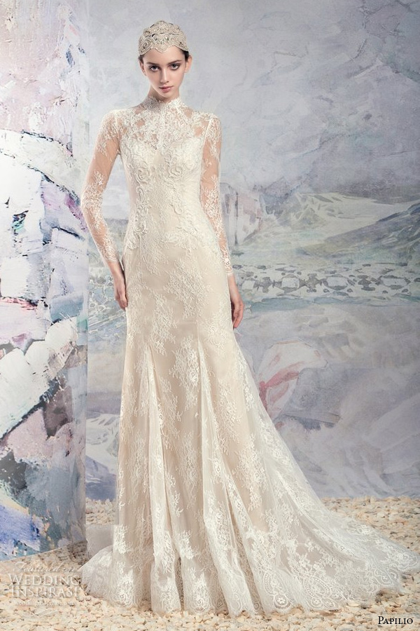 Papilio 2016 wedding dresses swan princess bridal for Drop sleeve wedding dress