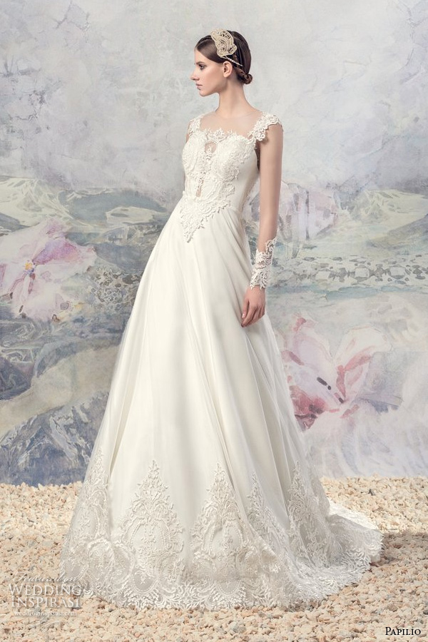 Modified Mermaid Wedding Dress 86 Vintage papilio bridal lace strap