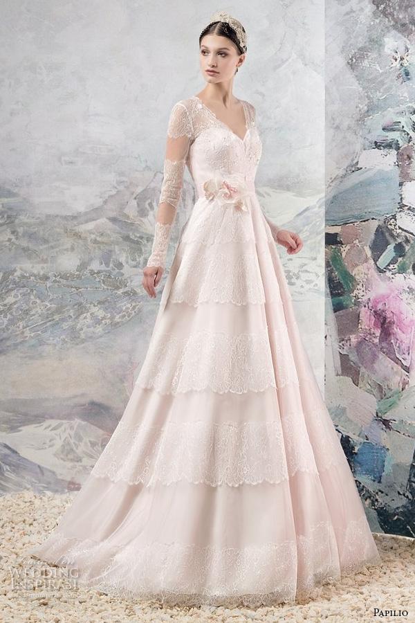 Wedding Dress Color 95 Unique papilio bridal long sleeves
