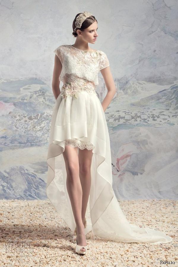 Short Bohemian Wedding Dresses 98 Great papilio bridal short sleeves
