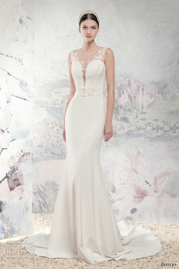 Fit And Flare Wedding Gowns 20 Beautiful papilio bridal sleeveless illusion