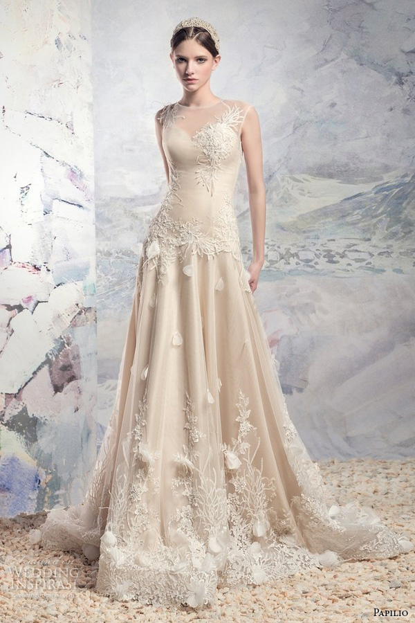 Wedding Dresses Mi 5 Lovely papilio bridal sleeveless sheer
