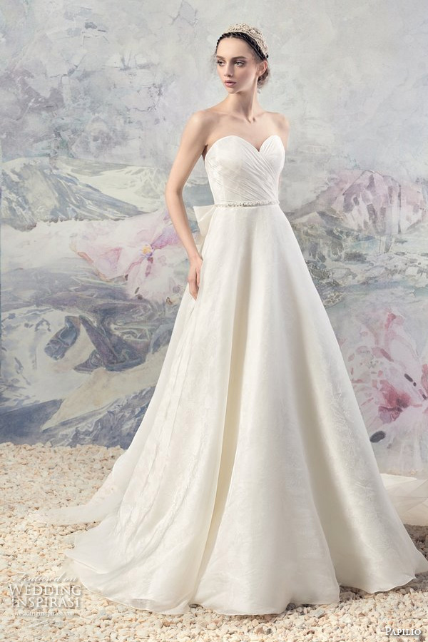 Papilio 2016 wedding dresses swan princess bridal for Sweetheart neckline ruched bodice wedding dress