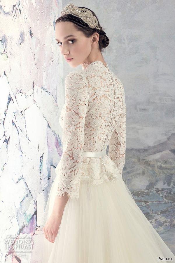 Hi Low Wedding Dress 73 Great papilio bridal three quarter