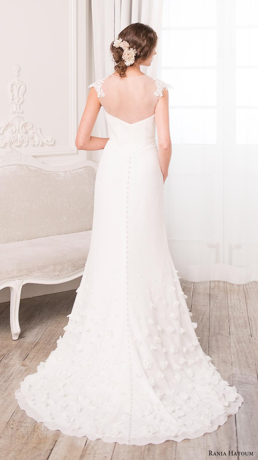 rania hatoum bridal spring 2017 illusion cap sleeve sweetheart trumpet wedding dress (alicia) bv train