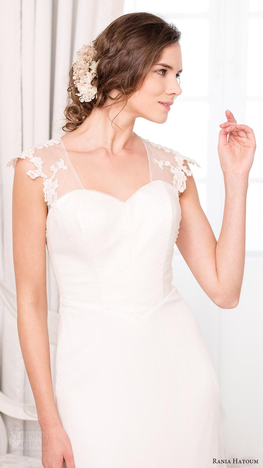rania hatoum bridal spring 2017 illusion cap sleeve sweetheart trumpet wedding dress (alicia) mv