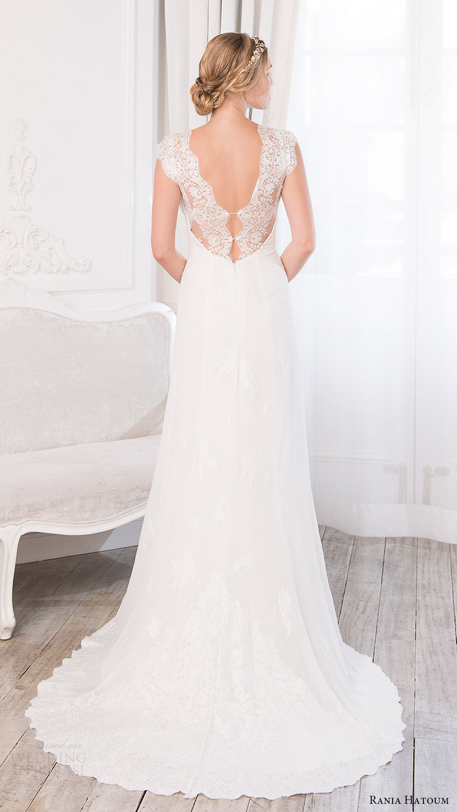 rania hatoum bridal spring 2017 lace cap sleeves sweetheart trumpet wedding dress (camilla) bv