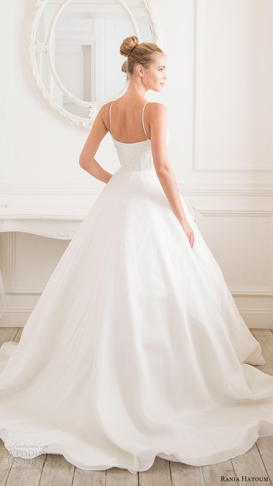 rania hatoum bridal spring 2017 sleeveless spaghetti straps ball gown wedding dress (victorian) bv train