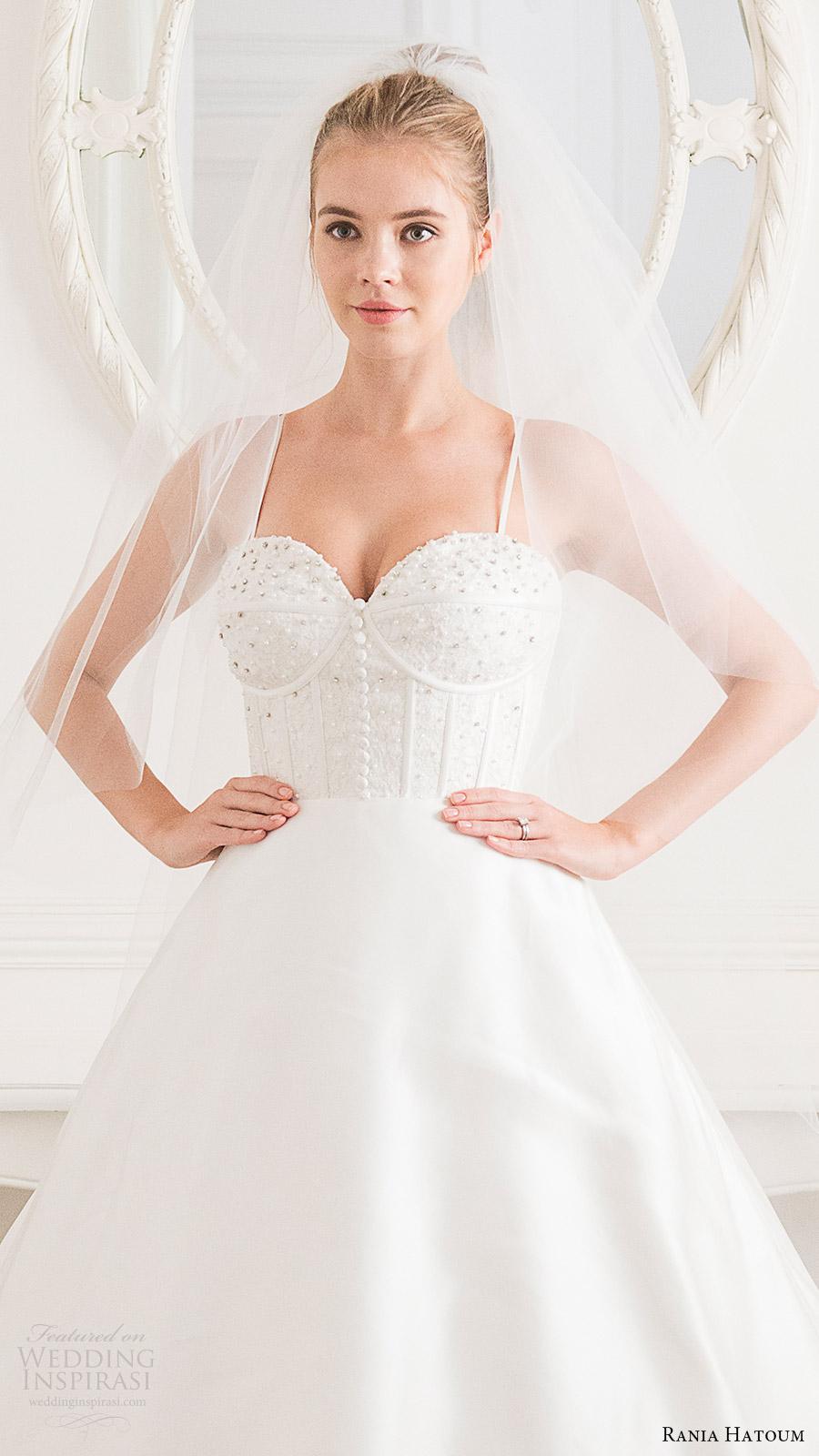rania hatoum bridal spring 2017 sleeveless spaghetti straps ball gown wedding dress (victorian) fv
