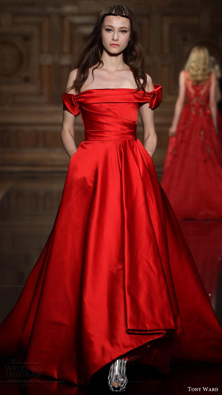 Red Black Wedding Dress 40 Elegant tony ward couture fall