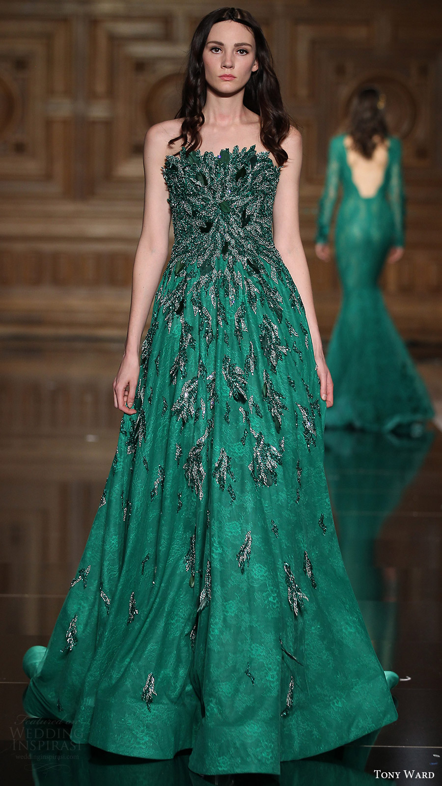 Emerald Green Wedding Gown