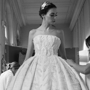 tony ward couture fall winter 2016 2017 collection back stage ball gown bts