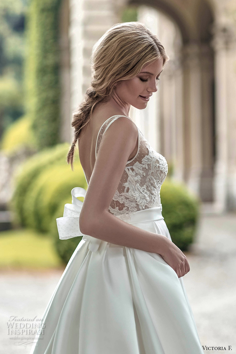 victoria f 2017 bridal lace strap heavily embellished bodice a  line wedding dress (untitled 04) sdv