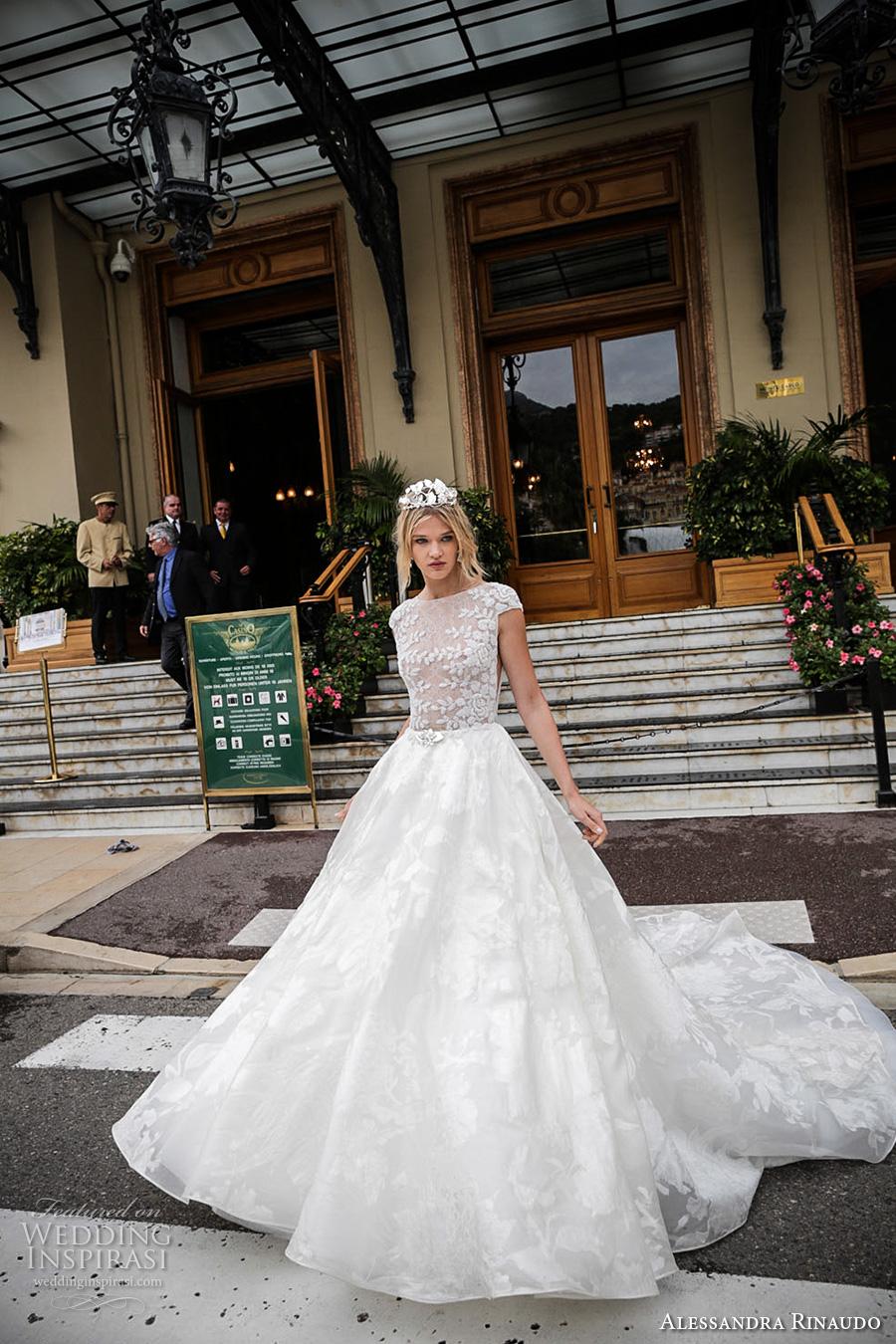 89a987b07a55 alessandra rinaudo 2017 bridal cap sleeves bateau neckline floral heavily  embellished bodice romantic princess a line