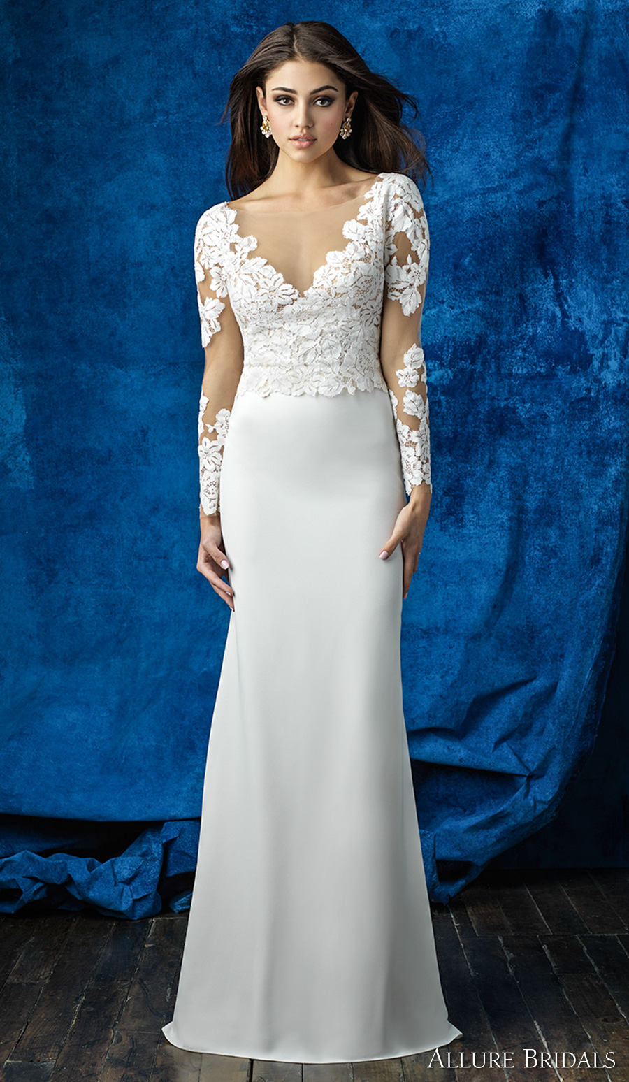 Allure bridals mix and match collection create gorgeous for Wedding dress illusion back