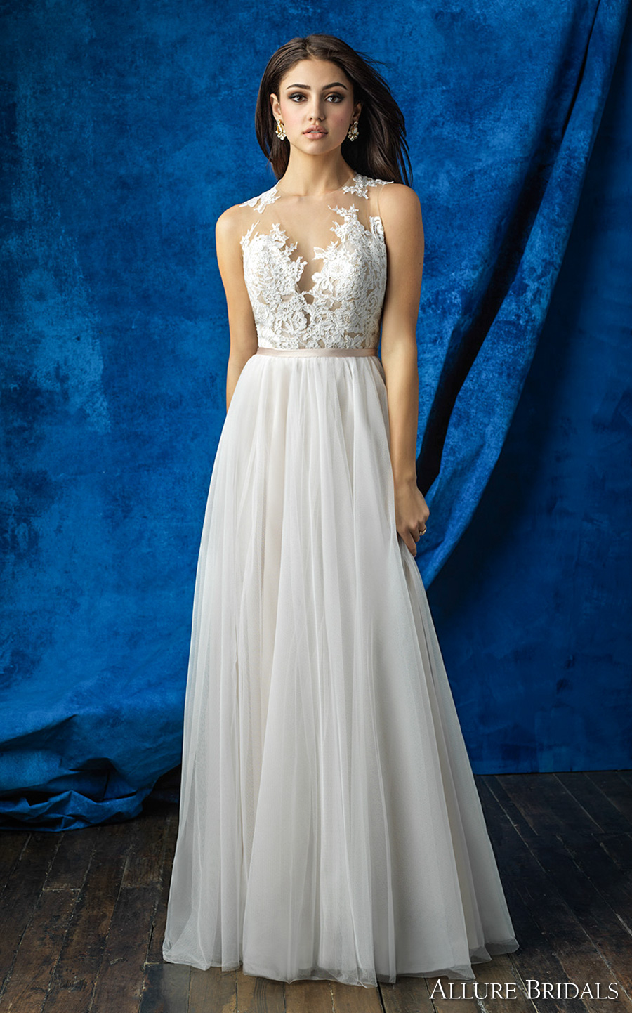 Allure bridals mix and match collection create gorgeous for Wedding dress with illusion top