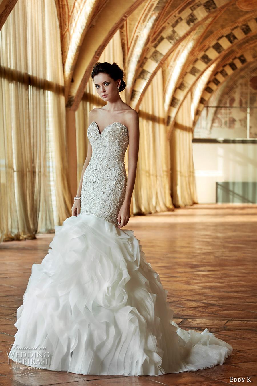 Demetrios Mermaid Wedding Dress 56 Stunning eddy k couture bridal