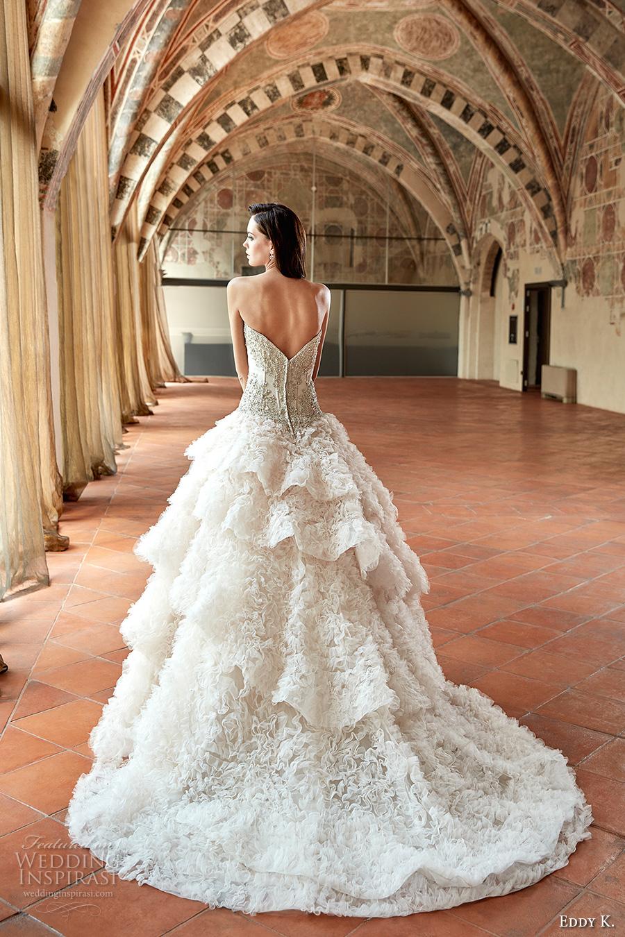 K Bridal Dresses : Princess glamorous ball gown wedding dress chapel train ct bv