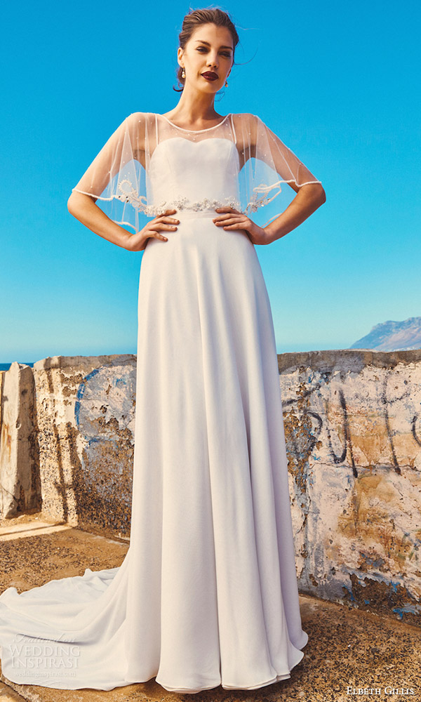 elbeth gillis milk honey 2017 bridal separates strapless aline wedding dress (marina cape linda top shelby skirt) mv