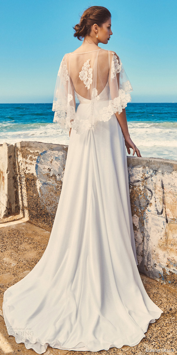 Elbeth gillis 2017 wedding dresses milk and honey for Wedding dress with cape train