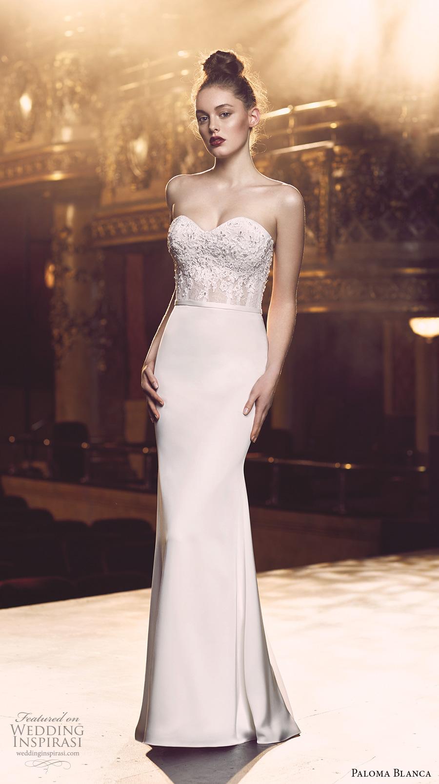 Paloma blanca fall 2016 wedding dresses wedding inspirasi for Sexy sheath wedding dress