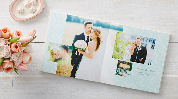 shutterfly wedding photo book premium layflat page album style outdoor wedding theme