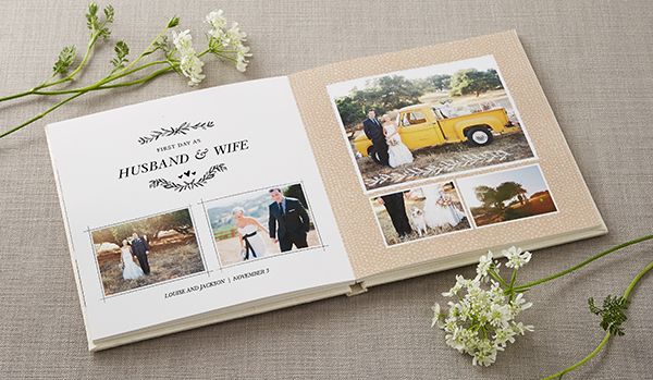 Shutterfly Wedding Photo Book Premium Layflat Page Al Style Rustic Photography Theme