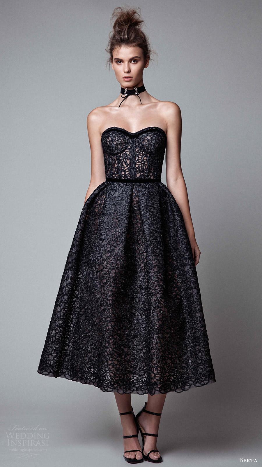 Black Cocktail Dress Wedding 40 Cute berta rtw fall strapless