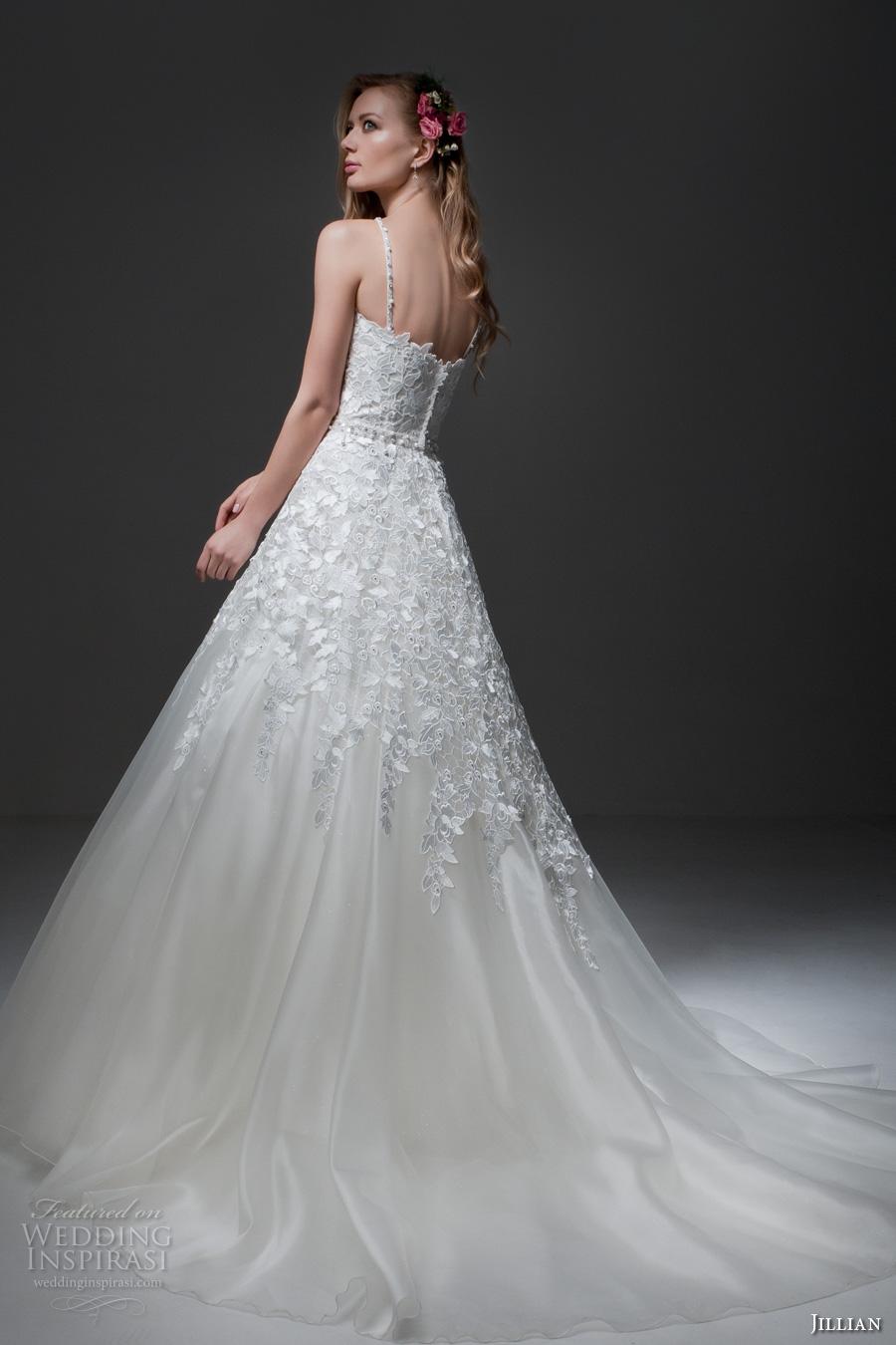 jillian 2017 bridal sleeveless cross strap sweetheart neckline heavily embellished bodice romantic a  line wedding dress chapel train (misha) bv
