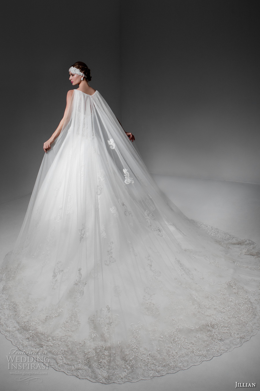 jillian 2017 bridal sleeveless v back heavily embellished bodice romantic a  line wedding dress v back royal train (madyson) bv
