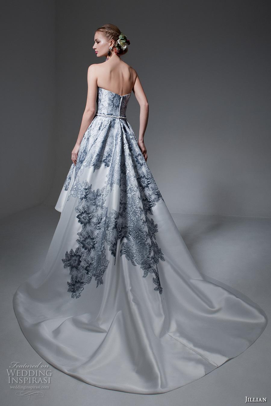 Blue Lace Wedding Dress 64 Cool jillian bridal strapless sweetheart