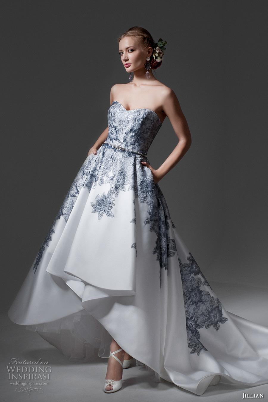 Blue Colored Wedding Dresses 85 Spectacular jillian bridal strapless sweetheart