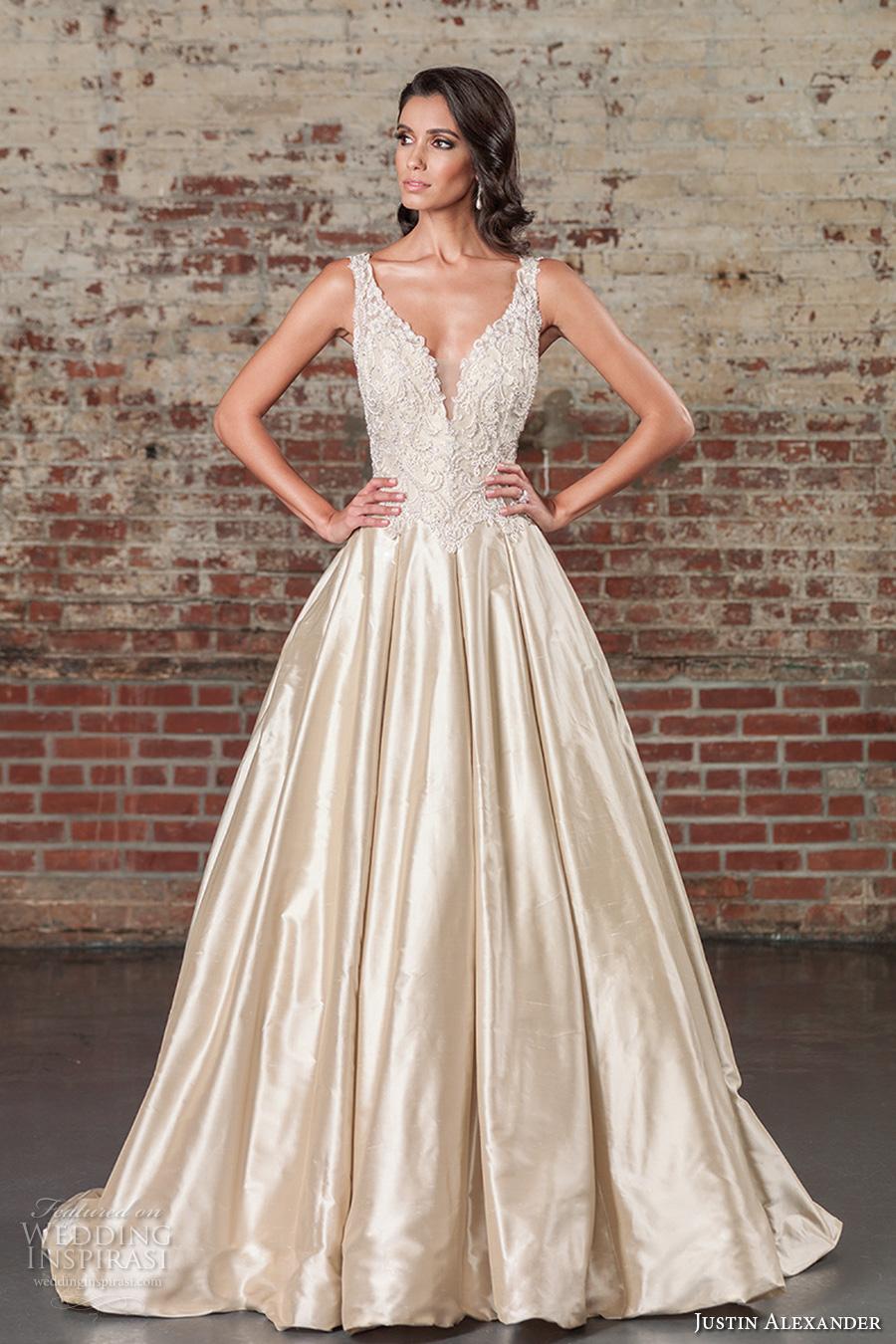 Justin Alexander A Line Wedding Dress