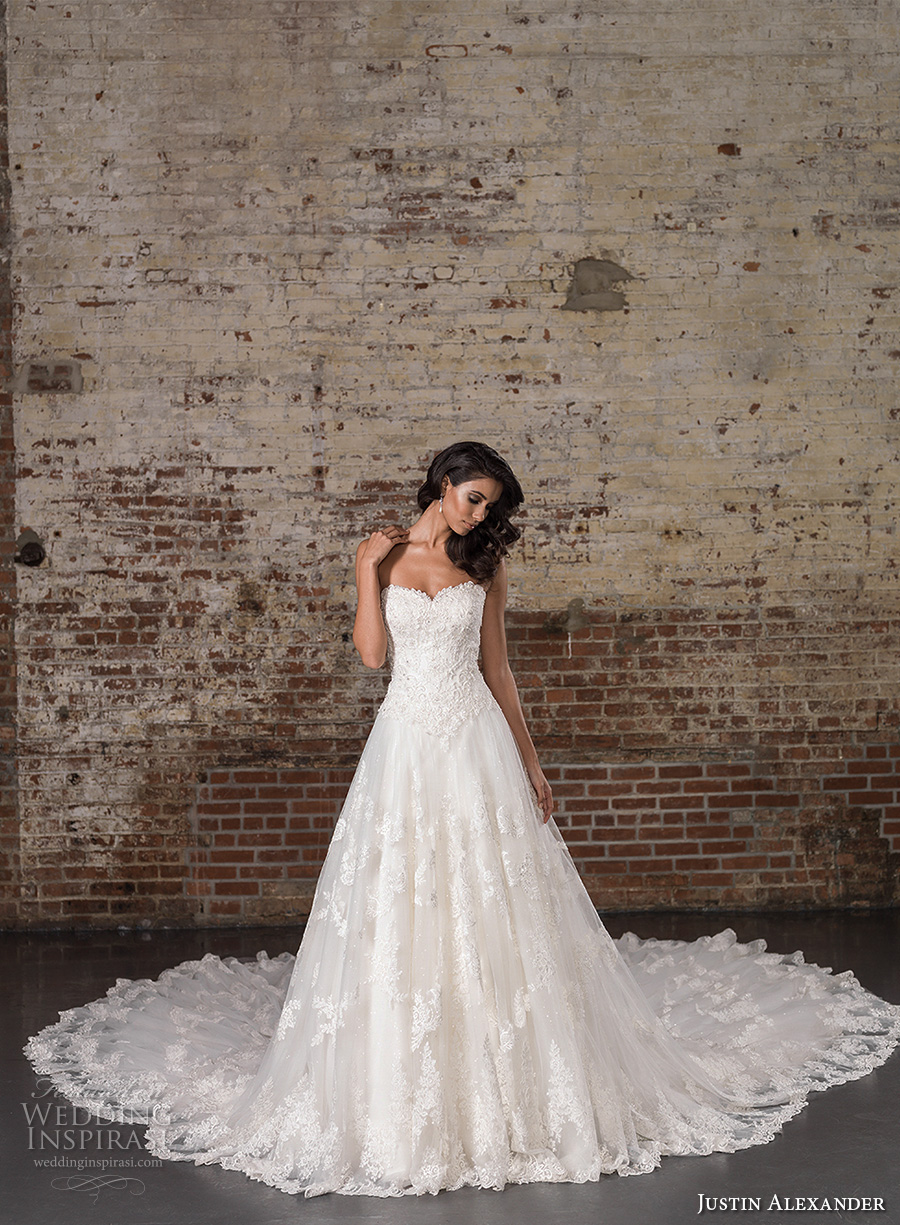 Justin alexander signature spring summer 2017 wedding for A line wedding dresses sweetheart neckline
