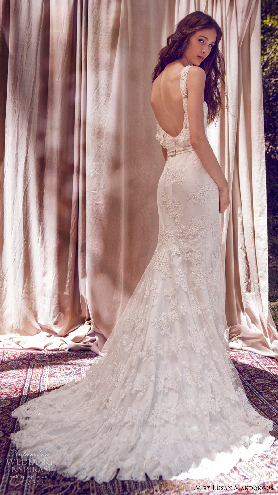 lm lusan mandongus bridal 2017 sleeveless illusion scoop sweetheart trumpet mermaid lace wedding dress (lm3085b) bv scoop back train