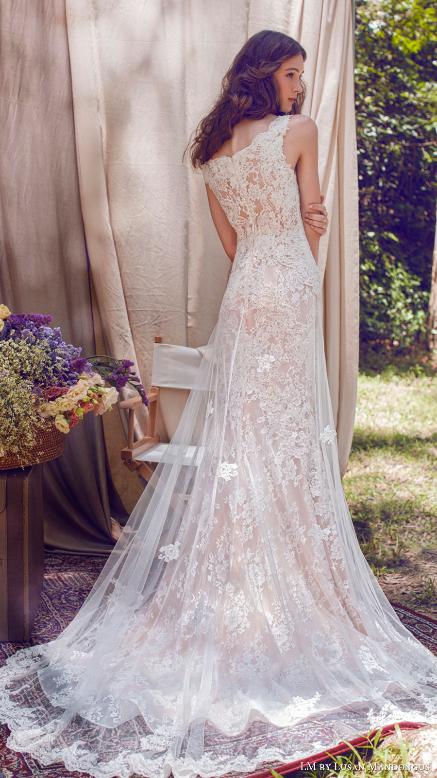 lm lusan mandongus bridal 2017 sleeveless vneck lace trumpet wedding dress (lm3250b) bv illusion back train