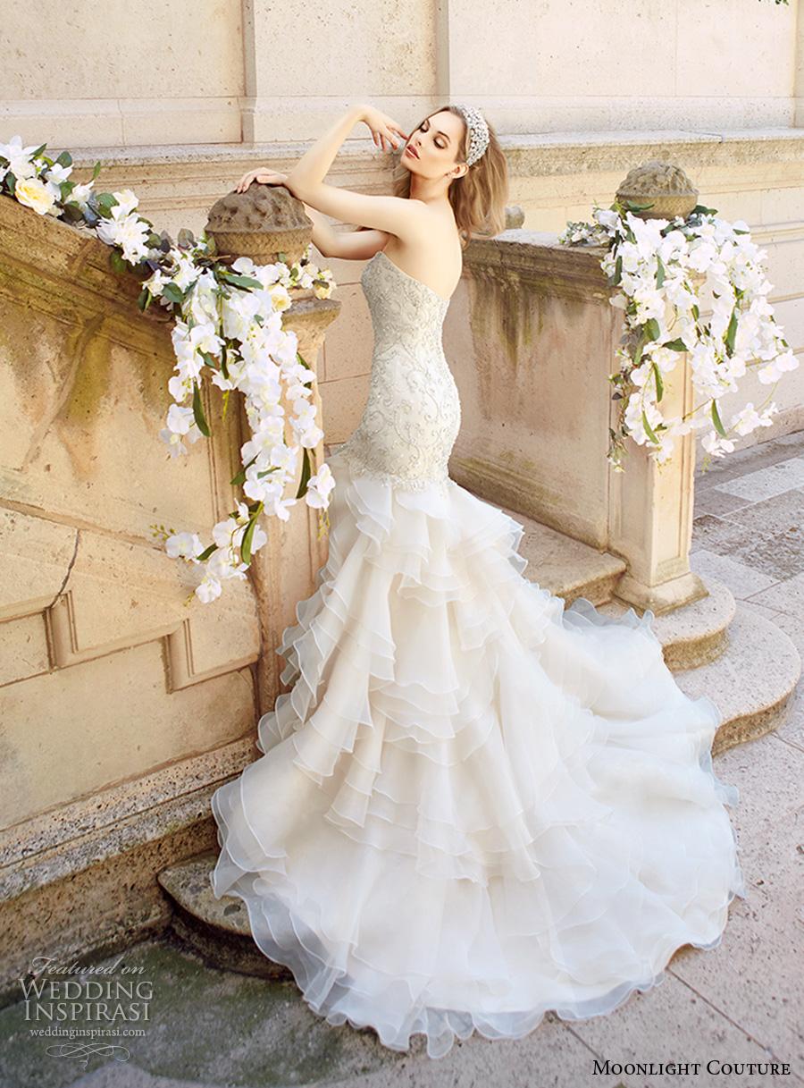 Glamorous Mermaid Wedding Dresses 54 Epic moonlight couture spring bridal