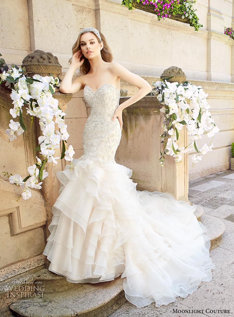 Glamorous Mermaid Wedding Dresses 9 Best moonlight couture spring bridal