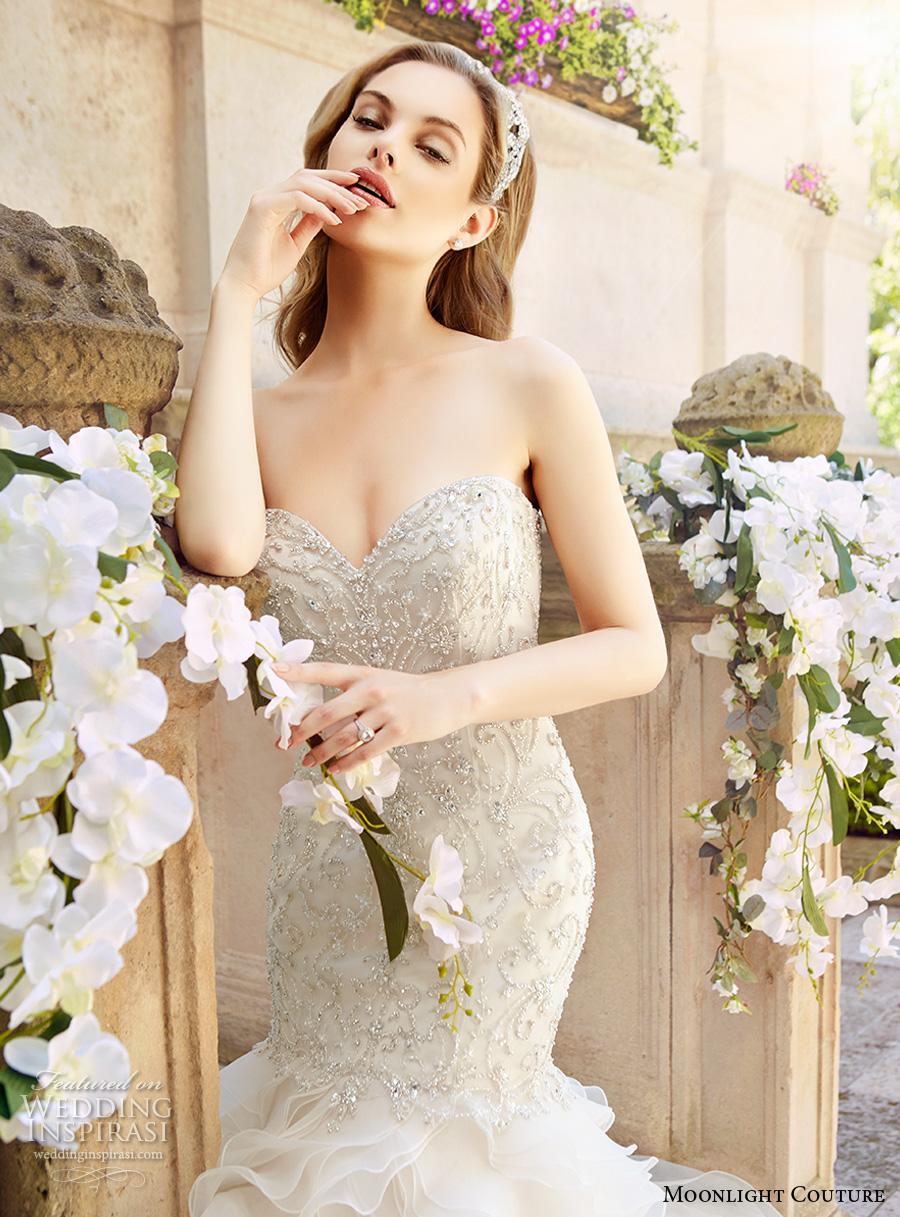 Glamorous Mermaid Wedding Dresses 22 Superb moonlight couture spring bridal