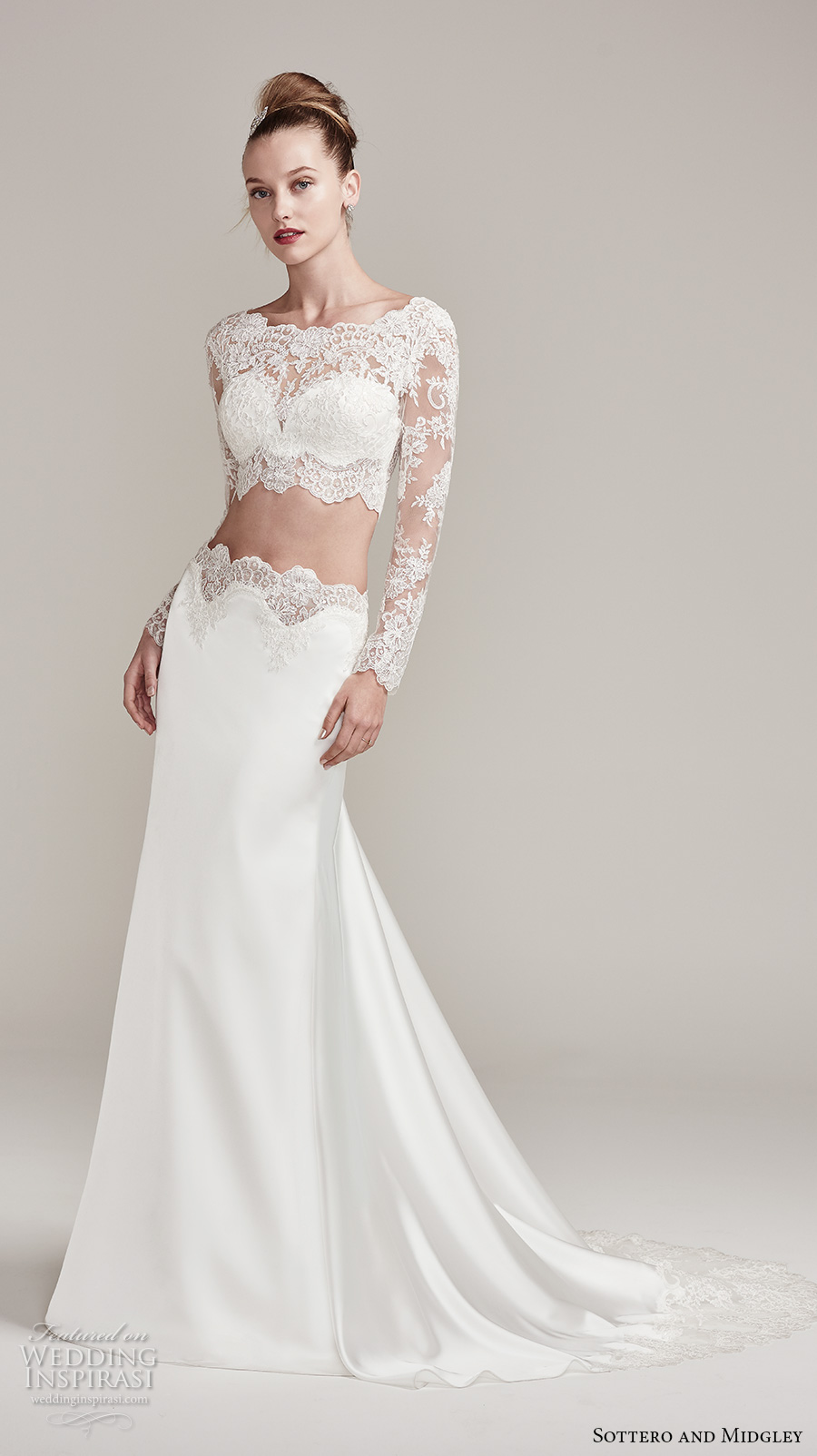 Sottero and midgley fall 2016 wedding dresses am lie for Crop top wedding dress