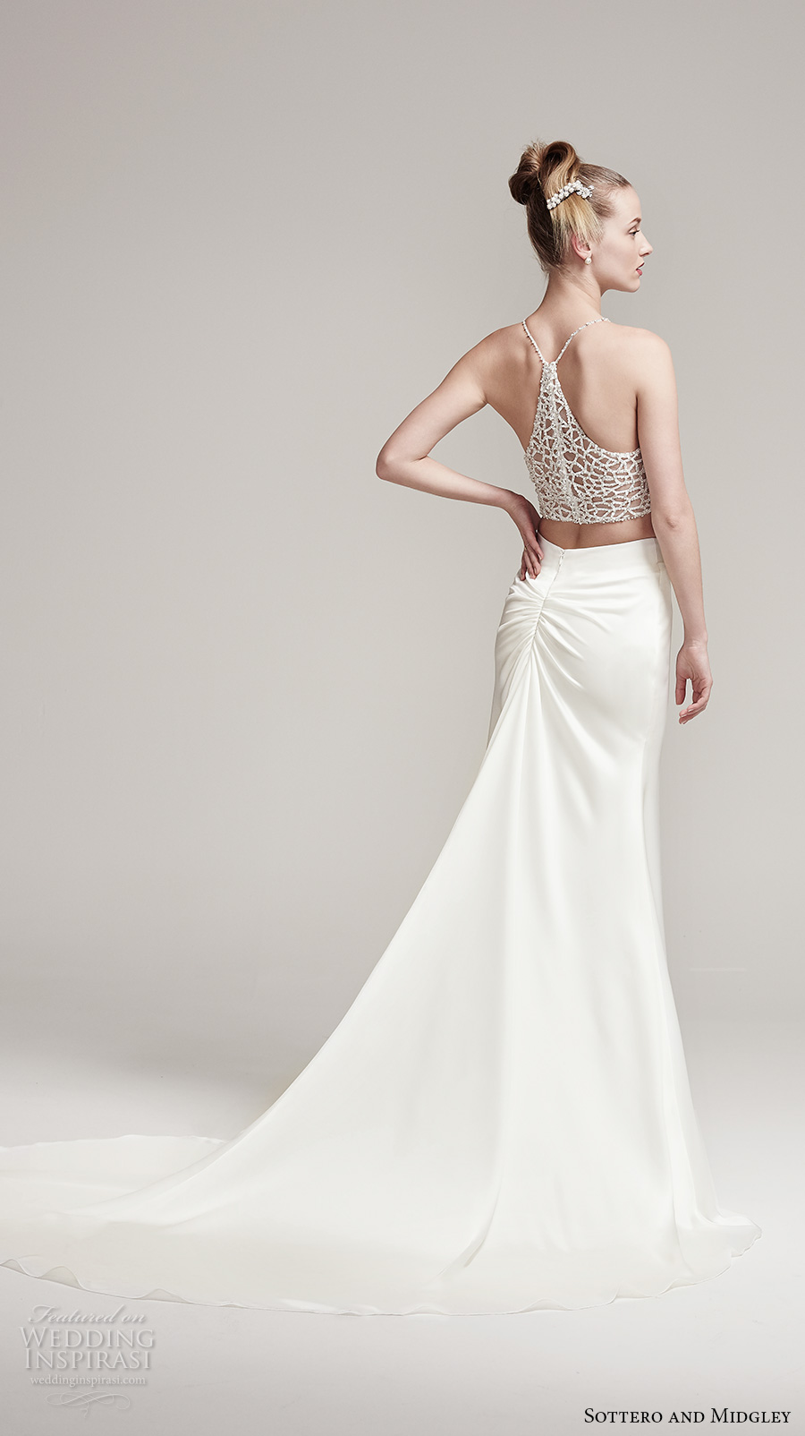 Sottero and midgley fall 2016 wedding dresses am lie for Wedding dress with illusion top
