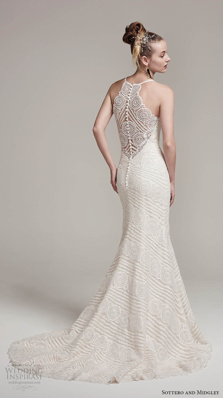 Sottero and midgley fall 2016 wedding dresses am lie for Wedding dress illusion back