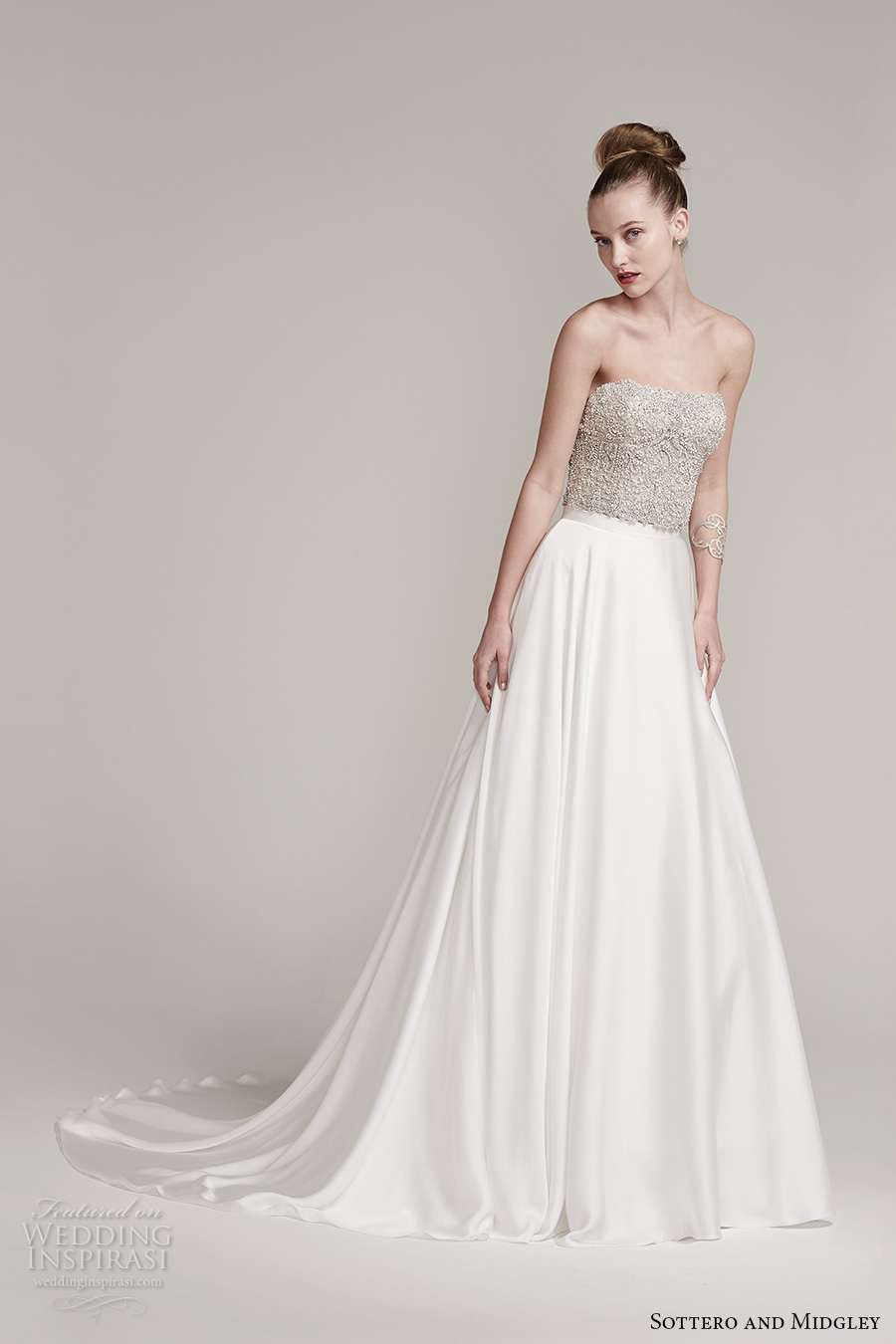 Sottero and midgley fall 2016 wedding dresses am lie for Long straight wedding dresses