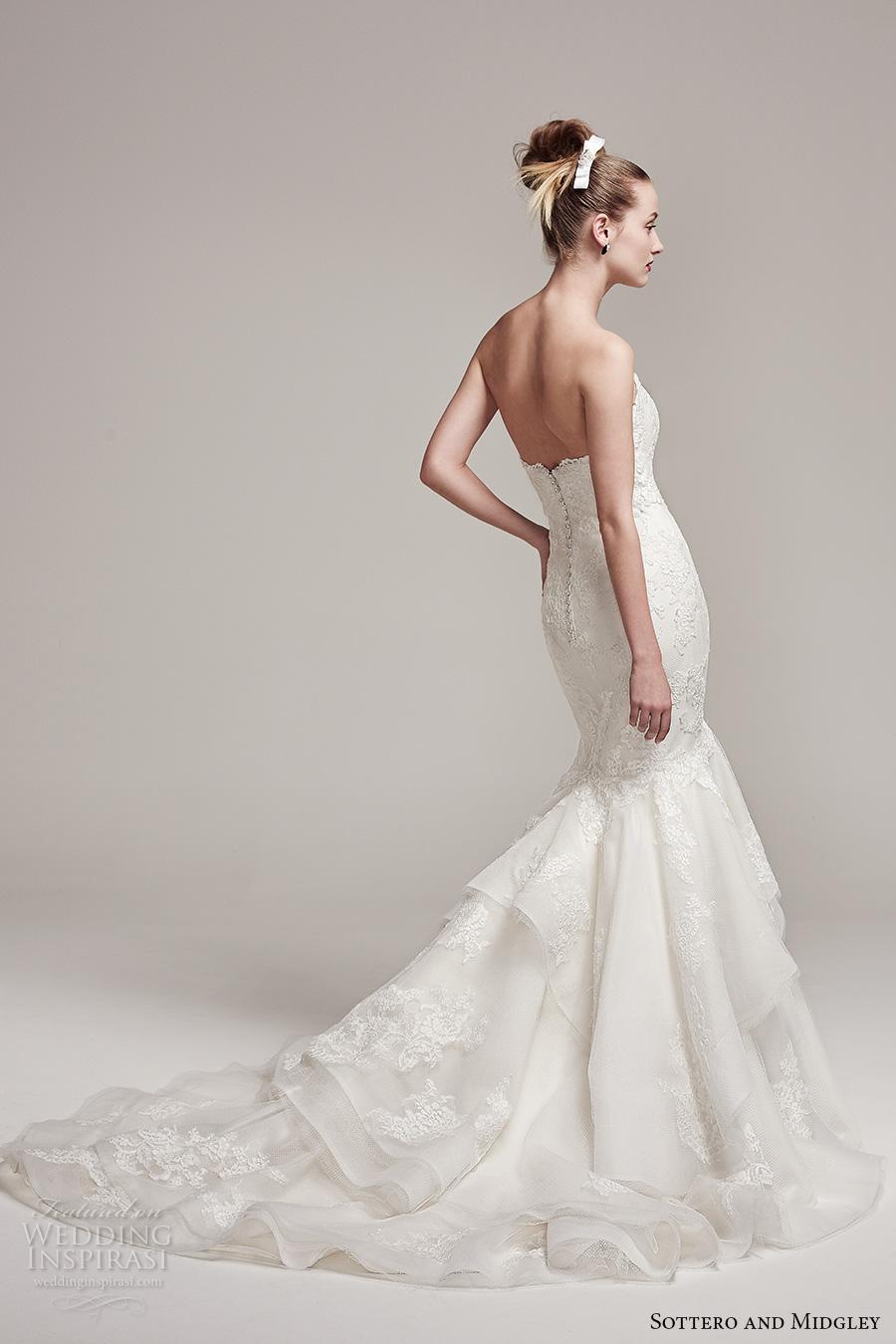 sottero midgley fall 2016 bridal strapless sweetheart neckline heavily embellished bodice classic elegant mermaid wedding dress chapel train (moriah) bv