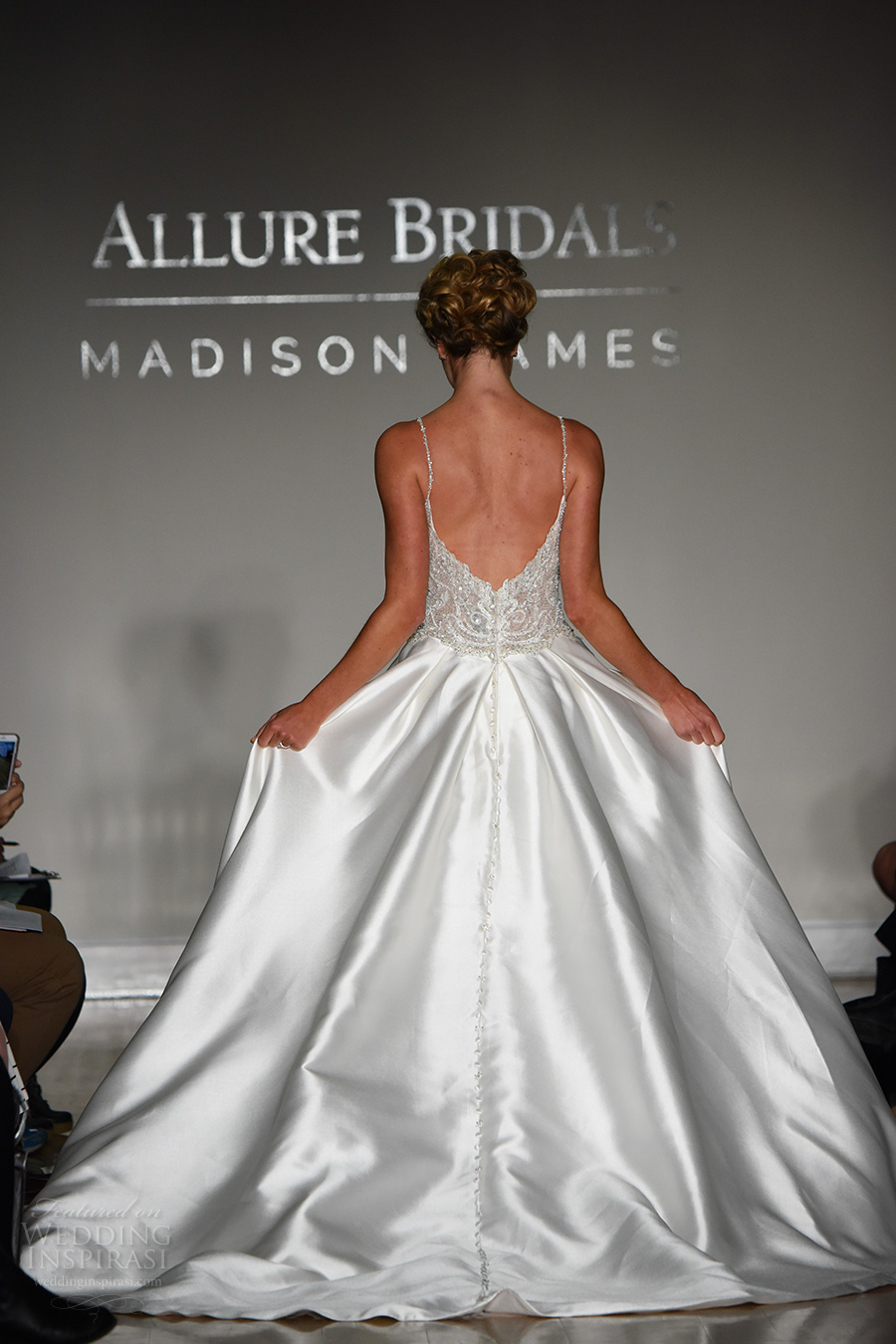 allure bridal maddison james f2017 spagetti strap sweetheart neckline heavily embellished bodice bustier satin skirt princess glamorous a line wedding dress chapel train (017) bv