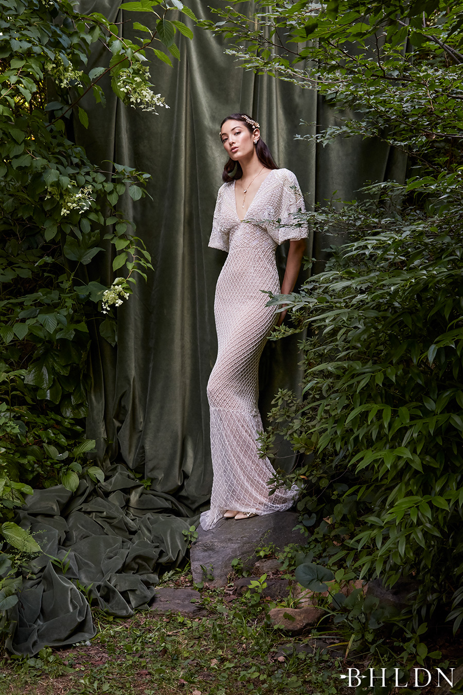 Behind the curtain bhldn s chic fall bridal collection for Wedding dresses with keyhole back