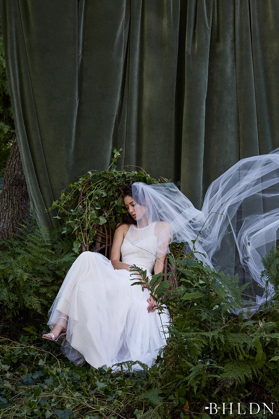 1dedcbccc5a4 bhldn fall 2016 bridal sleeveless halter jewel neckline heavily embellished  bodice tulle skirt romantic modified a