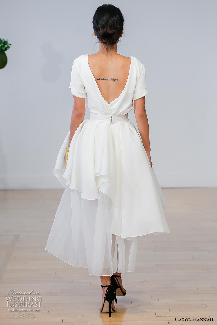 Modern Short Wedding Dresses 30 Vintage carol hannah bridal short